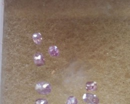 NATURAL FANCYPURPLE- PINK DIAMOND, 8PCS,0.75 ctwNR