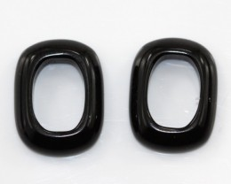7.85cts Matching Onyx Cushion Donut Shape