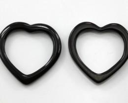 13.64cts Matching Onyx Heart Donut Shape