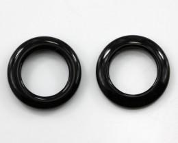 6.23cts Matching Onyx Round Donut Shape