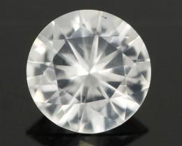 0.80CTS DIAMOND CUT SILVERY WHITE SAPPHIRE (SAP324)