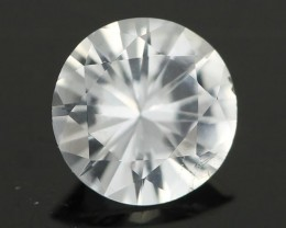 0.77CTS DIAMOND CUT SILVERY WHITE SAPPHIRE (SAP331)