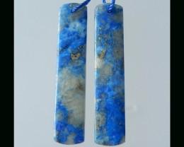 Special Lapis Lazuli Long  Earring beads - 44x9x4 MM