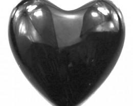 5.82cts 3 Matching Onyx Heart Shape Cabochon
