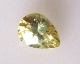 1.08cts Natural Australian Yellow Parti Sapphire Pear Shape