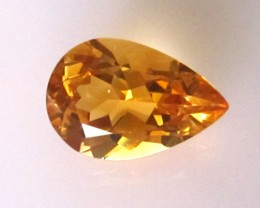 5.24cts Golden Yellow Citrine Pear Shape