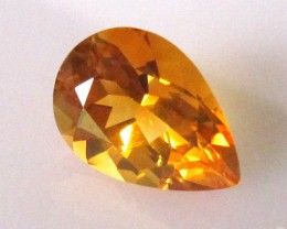 3.90cts Golden Yellow Citrine Pear Shape