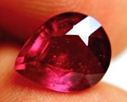 6.62 Carat Fiery Purplish Red Ruby - Beautiful