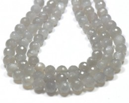 8mm 7inch Dark Grey Moonstone BEADS faceted Msg003  NEW ITEM