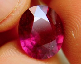 7.45 Carat Fiery Purplish Red Ruby - Gorgeous