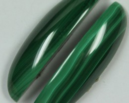 27.70 CTS MALACHITE PAIR OF STONES TOP GLOSSY POLISH ON PAIR