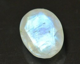 13mm oval faceted Rainbow moonstone rose cut 13 by 10 by 5.8mm