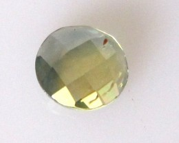 0.90cts Natural Australian Parti Sapphire Round Checker Board Cut