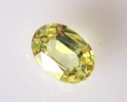 0.51cts Natural Australian Yellow Sapphire Oval Cut