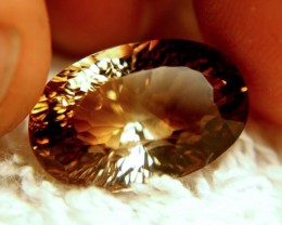 13.56 Carat VVS Brazil Golden Brown Topaz
