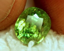3.16 Carat Vibrant Green Rainbow Sphene