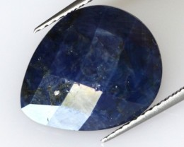 6.17cts Natural Pear Briolette Blue Sapphire