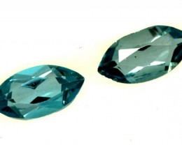 BLUE TOPAZ NATURAL FACETED (2 PCS) 1.15 CTS  PG-1266