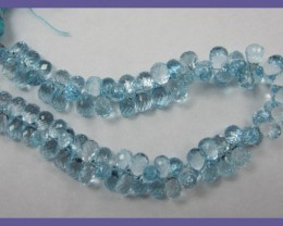 AAA+ SKY BLUE TOPAZ BRIOLETTE DROPS-8.00 X 4.50MM-SUPERB