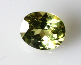 1.40cts Natural Australian Yellow Parti Sapphire Oval Cut