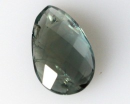 1.54cts Natural Australian Sapphire Pear Checker Board Cut