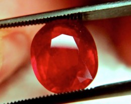5.79 Carat VVS/VS Fiery Cherry Ruby - Superb