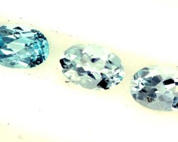 BLUE TOPAZ NATURAL FACETED (3 PCS) 1.45 CTS  PG-1339