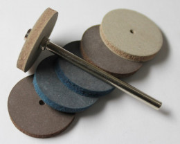 6 PIECE RUBBER DISKS FOR CARVING AND CUTTING STONE WORK