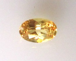 0.53cts Natural Australian Golden/Yellow Sapphire Oval Cut