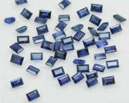 3mm 2mm Blue Sapphire baguette 1ct 10 gems