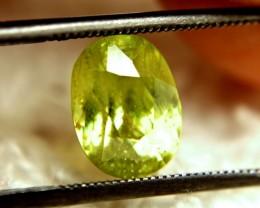 3.31 Carat Vibrant Green SI Rainbow Sphene