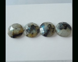 Faceted Labradorite Cabochon Set - 14x14x4 MM