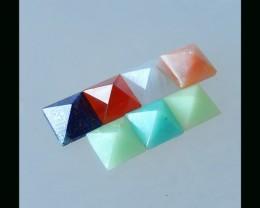 Pink Opal, Red Agate, Lapis Lazuli, Lace Agate,Chrysoprase, Amazonite Pryma