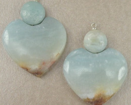 91.30CT AMAZONITE 2-PIECE EARRING BEAD SET-JUST LOVELY!!