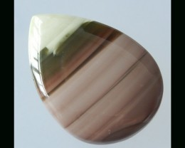 Well Polished Wave Jasper Cabochon - 47x27x7 MM,50 Cts