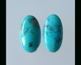 2 PCS Natural Sleepy Beauty Turquoise Cabochon  - 14.5 Cts
