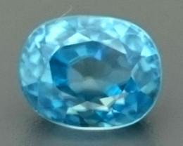 3.42ct Natural Blue ZIRCON Gemstone