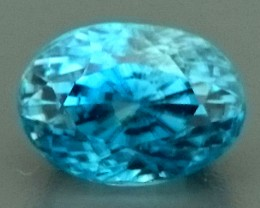 4.40ct Natural Blue ZIRCON Gemstone