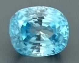 4.83ct Natural Light Blue ZIRCON Gemstone