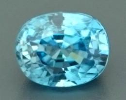 4.26ct Natural Light Blue ZIRCON Gemstone
