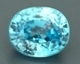 3.24ct Natural Light Blue ZIRCON Gemstone
