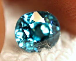 2.78 Carat Swiss Blue VVS1 Zircon - Superb