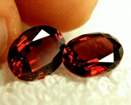 6.46 Tcw. VVS1 Matched Rhodolite Garnets - Beautiful