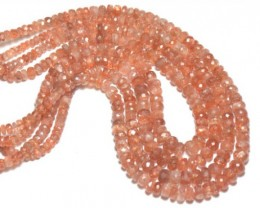 8 inch line of 3 to 7mm sunstone beads