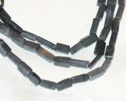 2 STRANDS GREY AVENTURINE BEADS - 136 CARATS