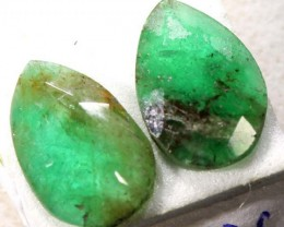 FACETED PAIR EMERALD  2.05  CTS ADG-601