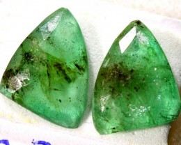 FACETED PAIR EMERALD  3.78  CTS ADG-603