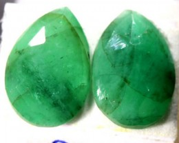 FACETED PAIR EMERALD 5.12   CTS ADG-604