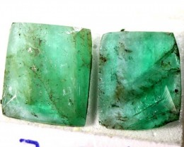 FACETED PAIR EMERALD 3.12   CTS ADG-606