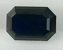 1.3ct Lusterous Emerald Cut  Blue Sapphire, Australian - REDUCED ED02